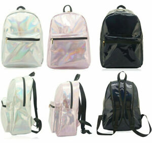 Holographic Backpack Shinny Back Pack School Bag for Girls Travel Accessories
