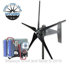 Missouri Freedom 12 Volt 1600 Watt 5 Blade Wind Turbine Generator Kit - Black