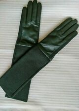 COS Long Sleeve Leather Gloves in Green - Size S