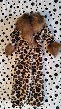 Barbie Doll Animal Léopard Imprimé Tigre manteau fashion avenue avec fourrure vintage