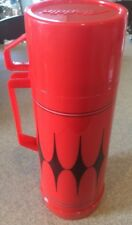 Vintage Aladdin Vanguard Black/Red Thermos   #032C Filler Stopper #31
