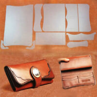 PVC DIY Women Wallet Leather Stencil Pattern Leather Craft Template Set US