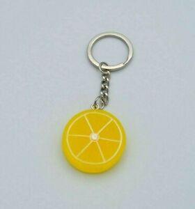 Lemon Fruit Slice Resin Keyring