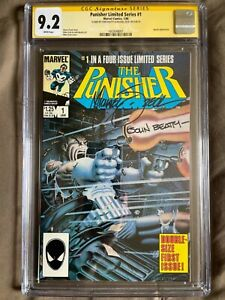 punisher limited series 1 cgc 9.2 SS Zeck and Beatty