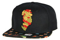 Nintendo Super Mario Brothers Mario 8-Bit Pixel Sublimated Bill Snapback Cap Hat