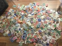 1,000+ vintage British Commonwealth Stamps Off paper Kiloware QV onward REDUCED