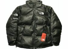 Brand New Supreme The North Face Leather Nuptse Jacket Black Small SP-TNFLNJBK
