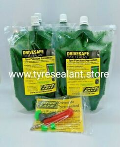 Tyre sealant tubeless car tyre puncture prevention x4 pouches