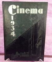 Vintage 1934 Yearbook The Cinema Lakewood High School Lakewood Ohio HR 41