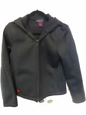 Ralph Lauren Black Label Black Dense Knit Black Jacket w/ Hood