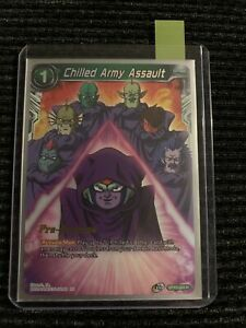 Dragon Ball Super Card Game Chilled Army Assault Pre-Release Card NM