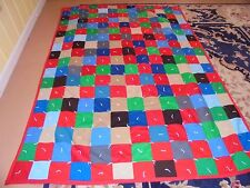 Nice Block Polyester Granny Square Pattern Hand Tied Quilt