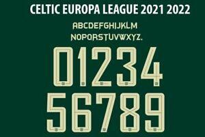 Celtic 2021-2022 Europa League Away Football Nameset shirt Choose Name 2 Numbers