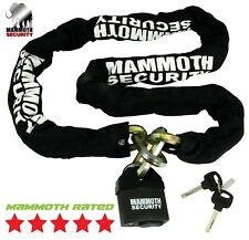 GENUINE MAMMOTH SECURITY CHAIN AND LOCK MOTORCYCLE SCOOTER CYCLE 12mm HEAVY DUTY