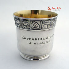 Mother Goose Nursery Rhyme Cup Gorham Sterling Silver 1907
