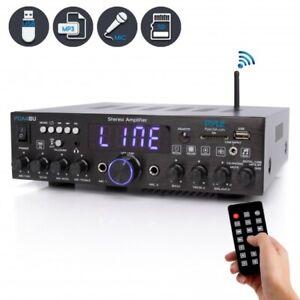 Pyle PDA4BU Wireless Bluetooth Home Stereo Amplifier-Multi-Channel 200 Watt Powe