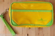 HONG KONG Disneyland Yellow & Green Wallet Clutch Purse Bag Souvenir