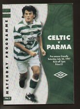 FOOTBALL MATCH PROGRAMME FRIENDLY CELTIC PARMA 1997