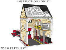 Lego Custom Winter Village - Fire Station with truck -INSTRUCTIONS ONLY! Holiday