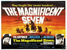 The Magnificent seven cult western movie poster print