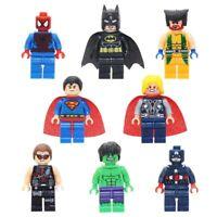 Custom Superhero Marvel Minifigs Toy Batman Superman Hulk Figure Fits Lego Xmas