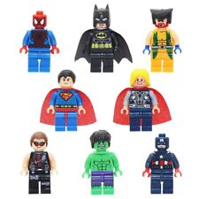Custom Superhero Marvel Minifigs Toy Batman Superman Hulk Figure Fits Lego Xmas