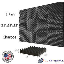 "2.5""x12""x12"" [8 PACK] Acoustic Egg Crate Soundproofing Foam Studio Wall Tiles"