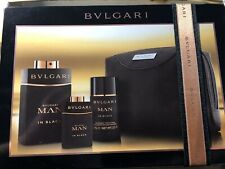 Bvlgari Man in Black EDT Spray 4 PC Cologne Gift Set EDT, DEO, Toiletries Bag +