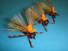 Fly Fishing Flies - Black Foam Brood X Cicada Flies size #8 (3 pcs.)