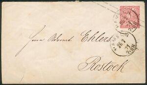 DR,Ganzsache U1a, Hameln-Rostock, 26.7.1871-Vorläufer  DR,