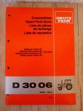 Original Ersatzteilliste Deutz Traktor D3006