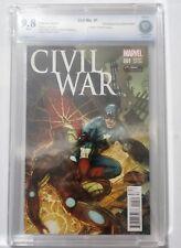CIVIL WAR #1 GAMESTOP VARIANT COMIC CBCS 9.8 GRADED marvel