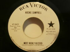 "archie campbell""do lord""Most Richly Blessed""single7""or.usa:rca47.8422 promo rare"