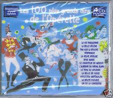 4 CDs NEUF 100 GRANDS AIRS D'OPERETTE