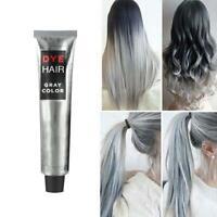 100ML Fashion Light Gray Color Natural Permanent Super Hair Colour Mask Dye Tint