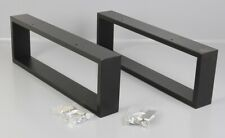 2er Set Couchtisch Möbel- Tischfüße Metall Tischbeine schwarz 61x20,5x8cm M1-DL