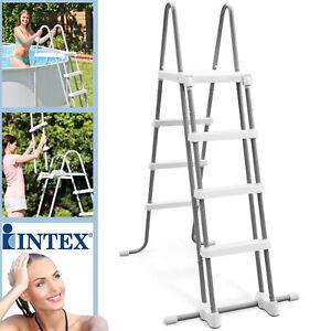 Intex Sicherheitsleiter Leiter 122 cm Pool Schwimmbad Easy Frame Poolleiter 076