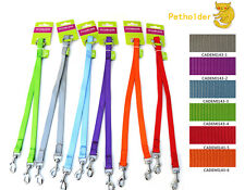 Nylon Dog Coupler Leash Lead 2 Way Dual Double Pet Leash No Tange Walking