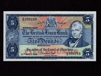 Scotland:P-167,5 Pounds,1968 * The British Linen Bank * EF *