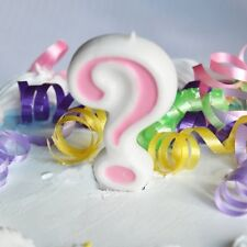 Pink ? Number Candle White Premium Birthday Candle Question Mark