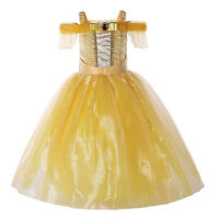 Kids Belle Princess Costume Beauty and the Beast Girls Party Fancy Dress Gown