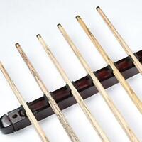 Billiard Pool Wall Mount Hanging 6 Cue Sticks Wood Rack Holder for Snooker