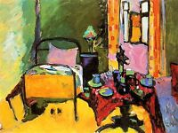 WASSILY KANDINSKY BEDROOM IN AINTMILLERSTRASSE OLD ART PAINTING PRINT 3041OMLV