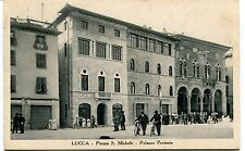 1935 Lucca Piazza S.Michele Palazzo Pretorio Casa del Mutilato FP B/N VG ANIM