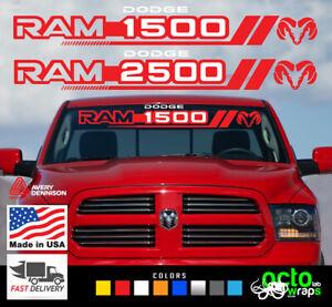 Dodge Ram fits 1500 2500 4x4 headlight accessorie windshield decal sticker hemi