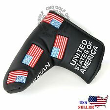 USA FLAG Black Putter Cover Headcover For Scotty Cameron Taylormade Odyssey