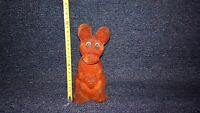 Vintage Soviet Russian USSR plush toy Kangaroo with a baby