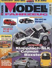 Zeitschrift Modell Fahrzeug 6 2005 Audi Q7 Büssing NAG 1934 SLK Golf GTI R32 MF3