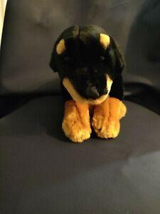 "Toys R Us Animal Alley Rottweiler Puppy Dog 13"" Plush Brown Black Stuffed Animal"