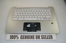 HP Chromebook 14-X055NA Laptop Palmrest Cover Keyboard UK 787733-031 Orange Trim
